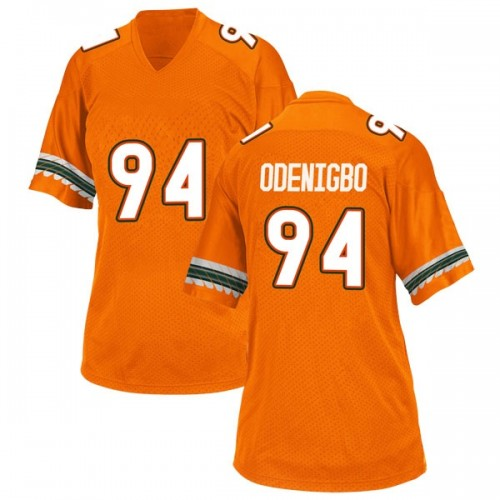 Women's Adidas Tito Odenigbo Miami Hurricanes Game Orange Alternate College Jersey