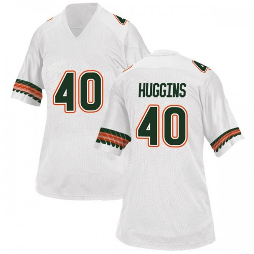 Women's Adidas Will Huggins Miami Hurricanes Game White Alternate College Jersey