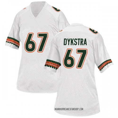 Women's Adidas Zach Dykstra Miami Hurricanes Game White Alternate College Jersey