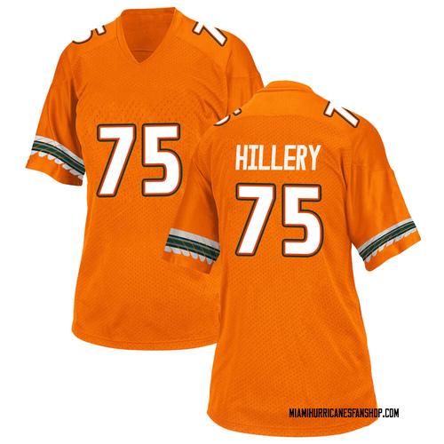 Women's Adidas Zalontae Hillery Miami Hurricanes Replica Orange Alternate College Jersey