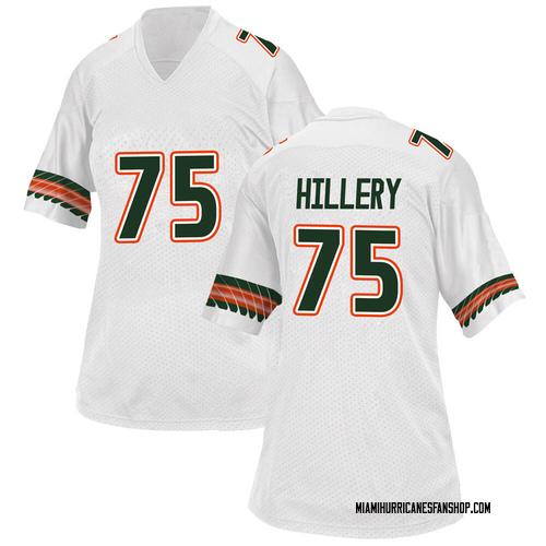 Women's Adidas Zalontae Hillery Miami Hurricanes Replica White Alternate College Jersey