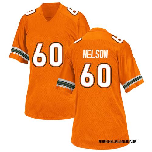 Women's Adidas Zion Nelson Miami Hurricanes Replica Orange Alternate College Jersey