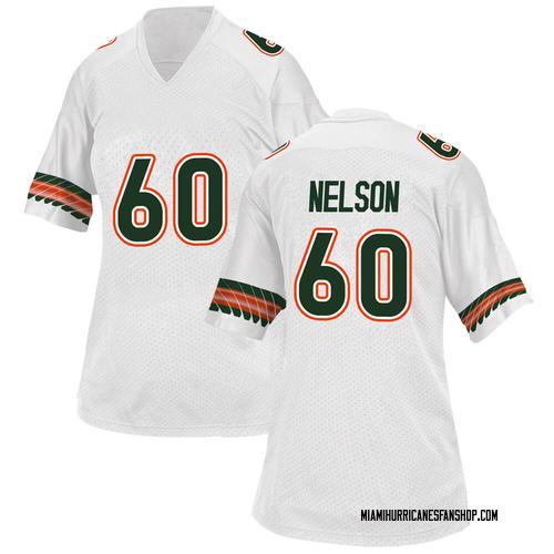 Women's Adidas Zion Nelson Miami Hurricanes Replica White Alternate College Jersey