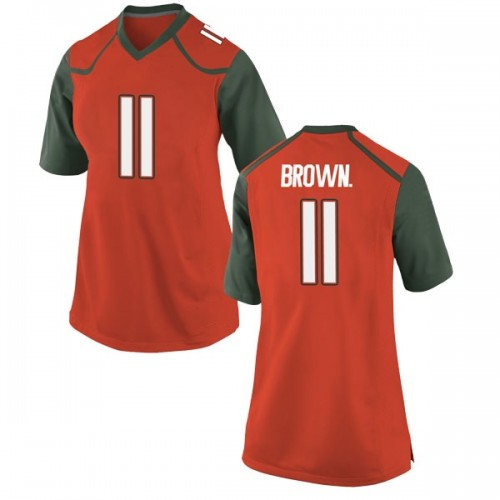 Women's Nike Bruce Brown Jr. Miami Hurricanes Game Orange College Jersey