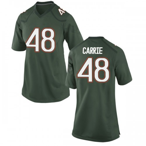 Women's Nike Calvin Carrie Miami Hurricanes Game Green Alternate College Jersey
