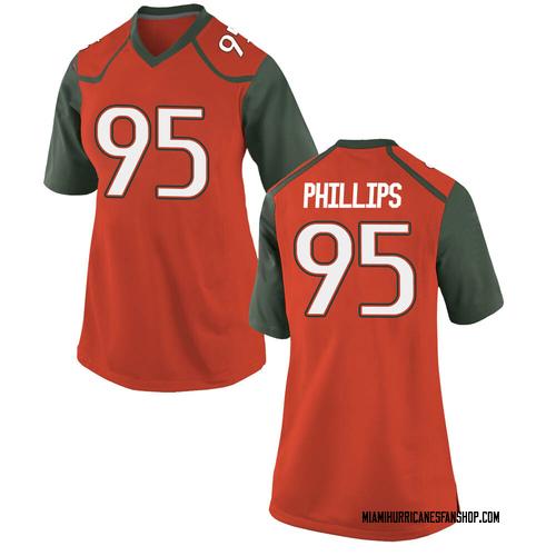 Women's Nike Jaelan Phillips Miami Hurricanes Replica Orange College Jersey