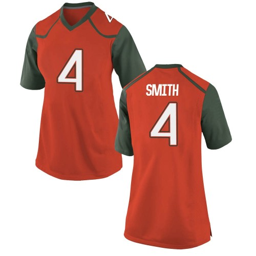 Women's Nike Keontra Smith Miami Hurricanes Game Orange College Jersey