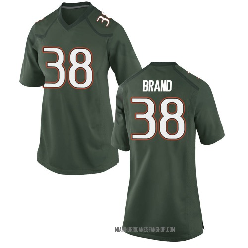 Women's Nike Robert Brand Miami Hurricanes Replica Green Alternate College Jersey