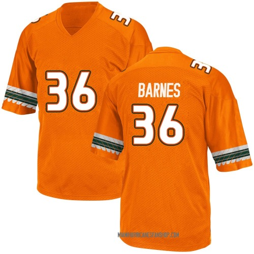 Youth Adidas Andrew Barnes Miami Hurricanes Game Orange Alternate College Jersey