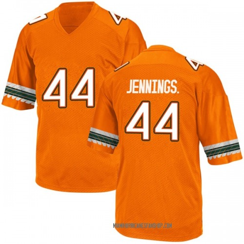 Youth Adidas Bradley Jennings Jr. Miami Hurricanes Game Orange Alternate College Jersey