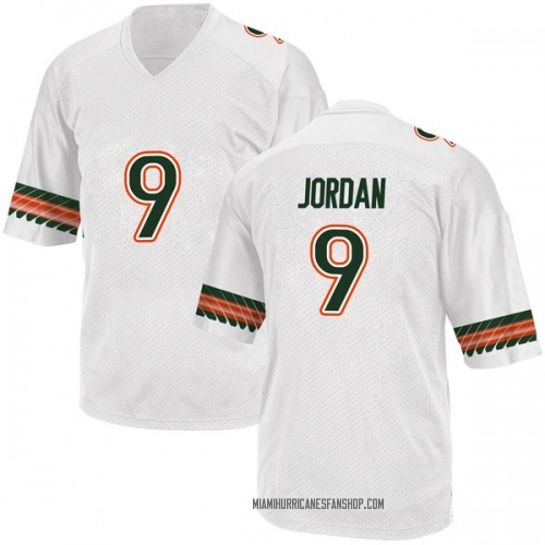Youth Adidas Brevin Jordan Miami Hurricanes Game White Alternate College Jersey