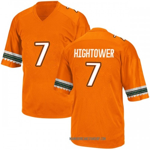 Youth Adidas Brian Hightower Miami Hurricanes Replica Orange Alternate College Jersey