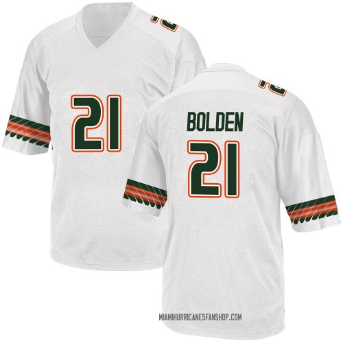 Youth Adidas Bubba Bolden Miami Hurricanes Game White Alternate College Jersey