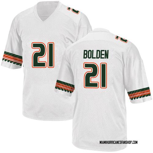 Youth Adidas Bubba Bolden Miami Hurricanes Replica White Alternate College Jersey