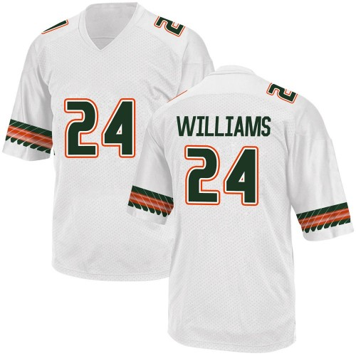 Youth Adidas Christian Williams Miami Hurricanes Game White Alternate College Jersey