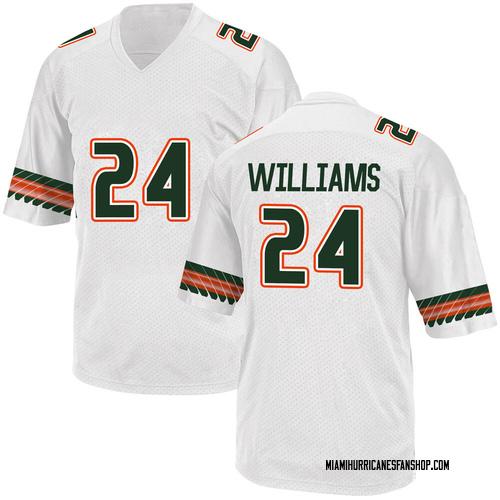 Youth Adidas Christian Williams Miami Hurricanes Replica White Alternate College Jersey