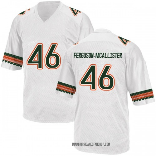 Youth Adidas Daniel Ferguson-McAllister Miami Hurricanes Replica White Alternate College Jersey