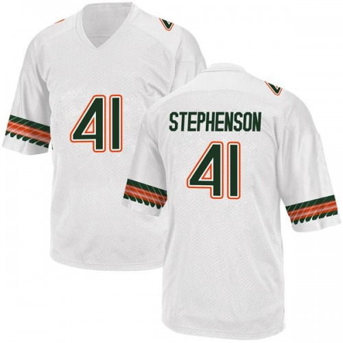 Youth Adidas Darian Stephenson Miami Hurricanes Replica White Alternate College Jersey