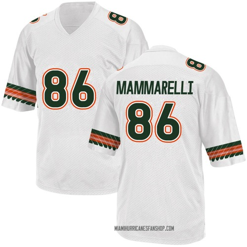 Youth Adidas Dominic Mammarelli Miami Hurricanes Game White Alternate College Jersey