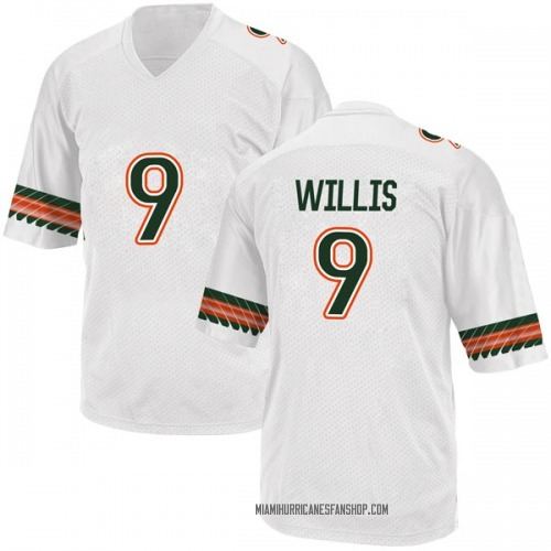 Youth Adidas Gerald Willis III Miami Hurricanes Game White Alternate College Jersey