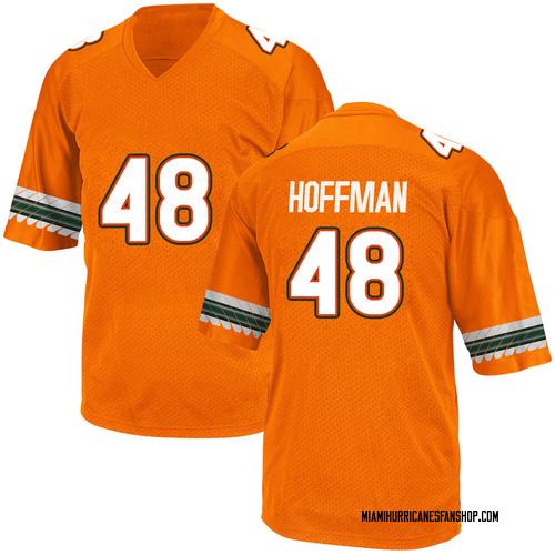 Youth Adidas Jake Hoffman Miami Hurricanes Replica Orange Alternate College Jersey