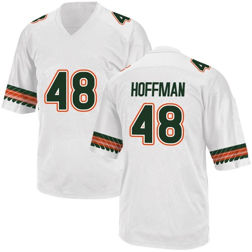 Youth Adidas Jake Hoffman Miami Hurricanes Replica White Alternate College Jersey