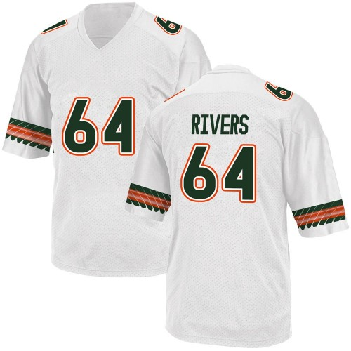 Youth Adidas Jalen Rivers Miami Hurricanes Game White Alternate College Jersey