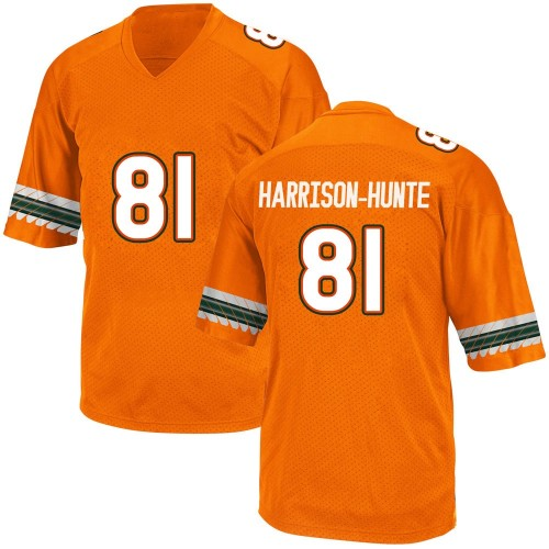 Youth Adidas Jared Harrison-Hunte Miami Hurricanes Game Orange Alternate College Jersey
