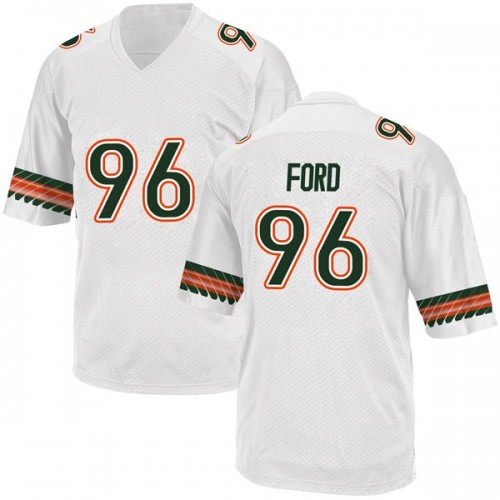 Youth Adidas Jonathan Ford Miami Hurricanes Game White Alternate College Jersey
