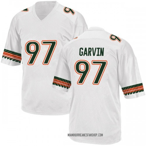 Youth Adidas Jonathan Garvin Miami Hurricanes Game White Alternate College Jersey
