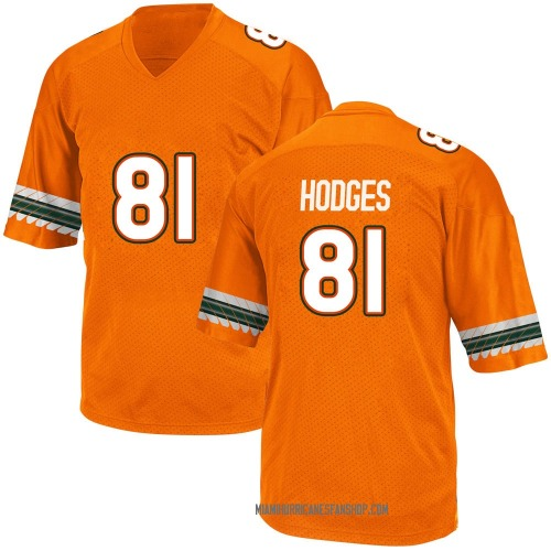 Youth Adidas Larry Hodges Miami Hurricanes Game Orange Alternate College Jersey