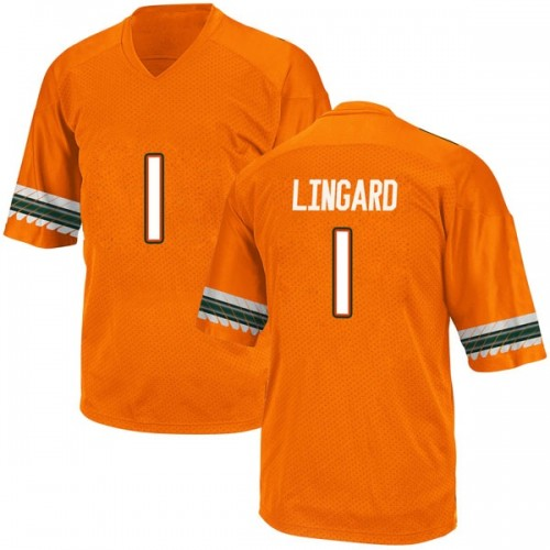 Youth Adidas Lorenzo Lingard Miami Hurricanes Replica Orange Alternate College Jersey
