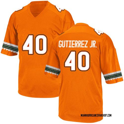 Youth Adidas Luis Gutierrez Jr. Miami Hurricanes Game Orange Alternate College Jersey