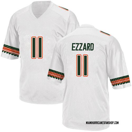 Youth Adidas Marquez Ezzard Miami Hurricanes Replica White Alternate College Jersey