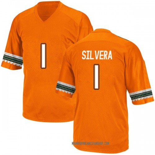 Youth Adidas Nesta Jade Silvera Miami Hurricanes Replica Orange Alternate College Jersey