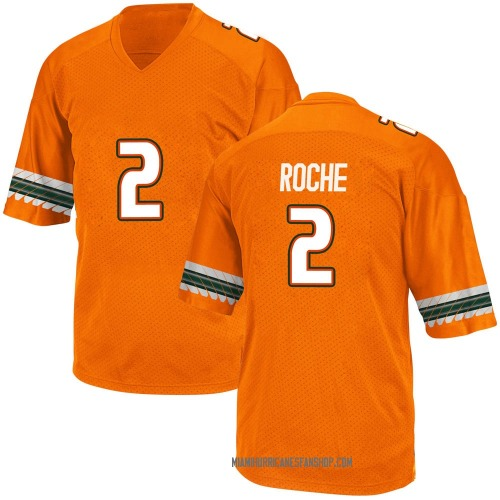Youth Adidas Quincy Roche Miami Hurricanes Game Orange Alternate College Jersey