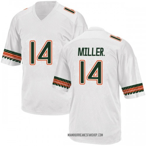 Youth Adidas Rodney Miller Jr. Miami Hurricanes Game White Alternate College Jersey