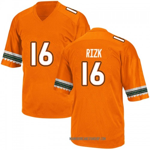 Youth Adidas Ryan Rizk Miami Hurricanes Game Orange Alternate College Jersey