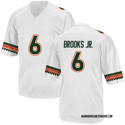 Youth Adidas Sam Brooks Jr. Miami Hurricanes Replica White Alternate College Jersey