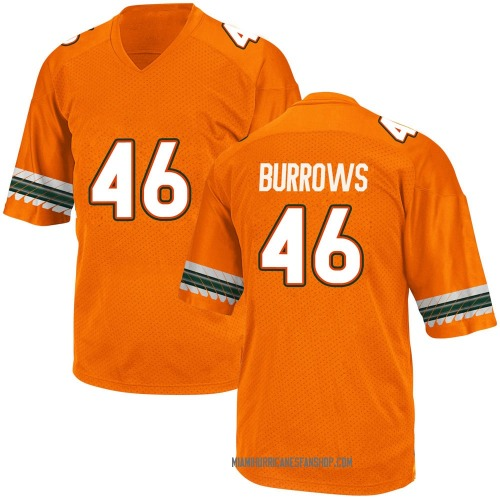 Youth Adidas Suleman Burrows Miami Hurricanes Replica Orange Alternate College Jersey
