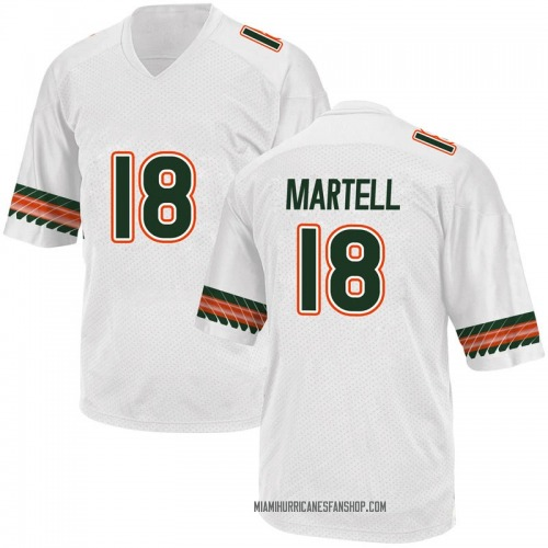Youth Adidas Tate Martell Miami Hurricanes Game White Alternate College Jersey