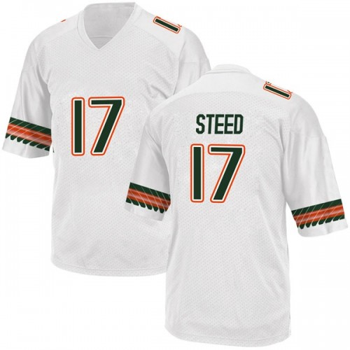 Youth Adidas Waynmon Steed Miami Hurricanes Replica White Alternate College Jersey