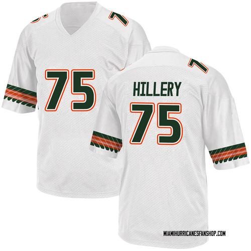 Youth Adidas Zalontae Hillery Miami Hurricanes Game White Alternate College Jersey