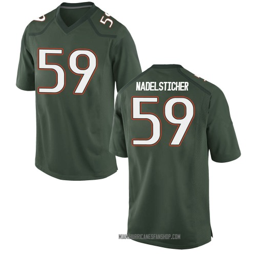 Youth Nike Alan Nadelsticher Miami Hurricanes Game Green Alternate College Jersey