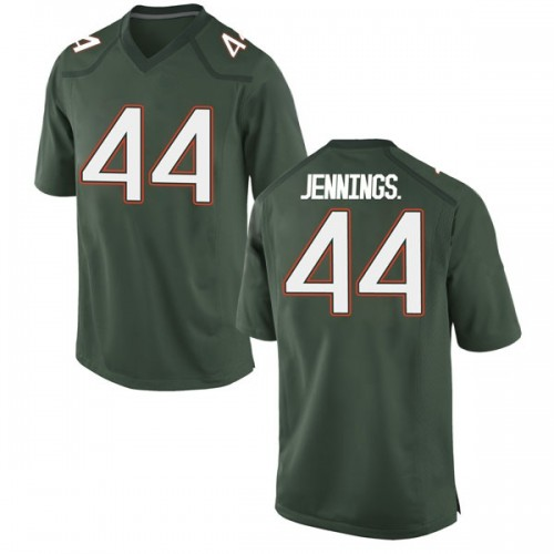 Youth Nike Bradley Jennings Jr. Miami Hurricanes Replica Green Alternate College Jersey