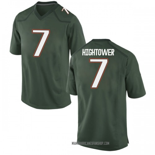 Youth Nike Brian Hightower Miami Hurricanes Game Green Alternate College Jersey