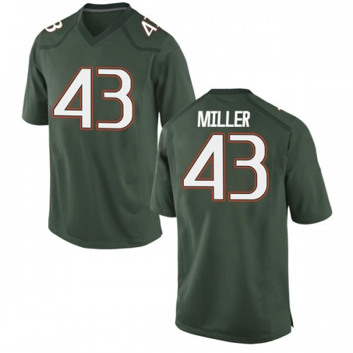 Youth Nike Brian Miller Miami Hurricanes Game Green Alternate College Jersey