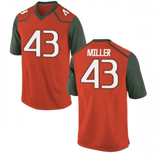 Youth Nike Brian Miller Miami Hurricanes Replica Orange College Jersey