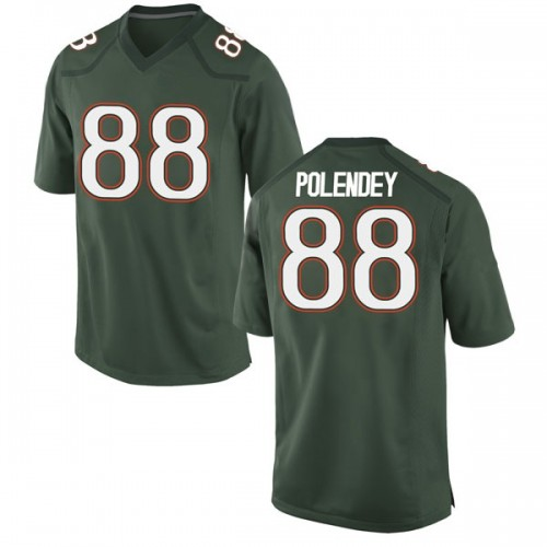 Youth Nike Brian Polendey Miami Hurricanes Game Green Alternate College Jersey