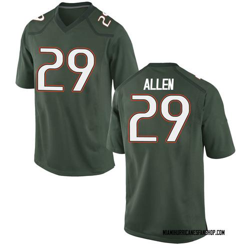 Youth Nike Chad Allen Miami Hurricanes Replica Green Alternate College Jersey